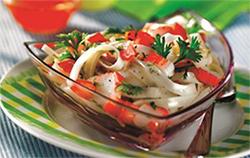 Салат с рисовой лапшой фото