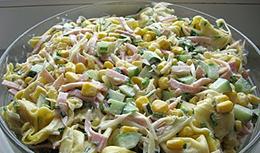 Рецепт салата с тортеллини
