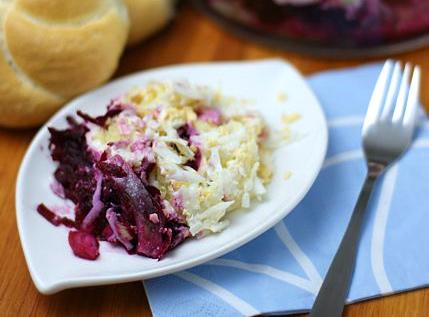 Салат с селедкой и свеклой фото