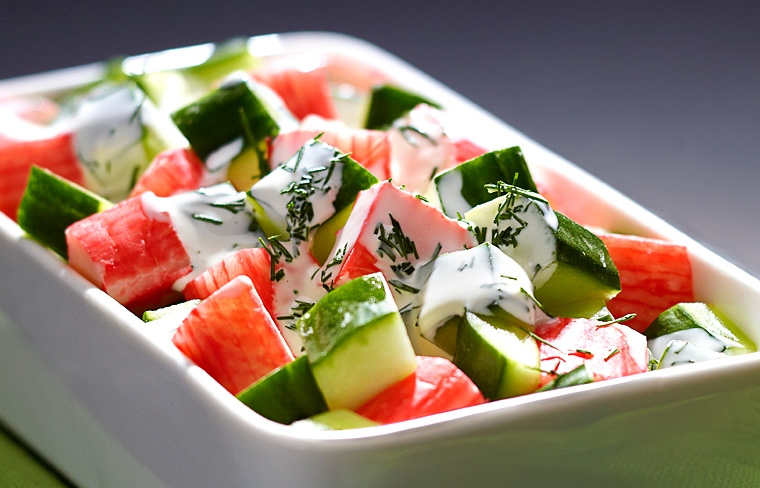 Легкий салат с сурими