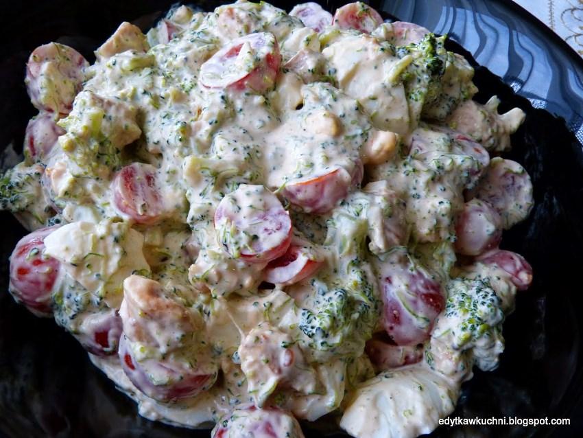 Фото салата с брокколи и курицей