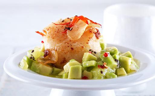 Фото салата с морскими гребешками