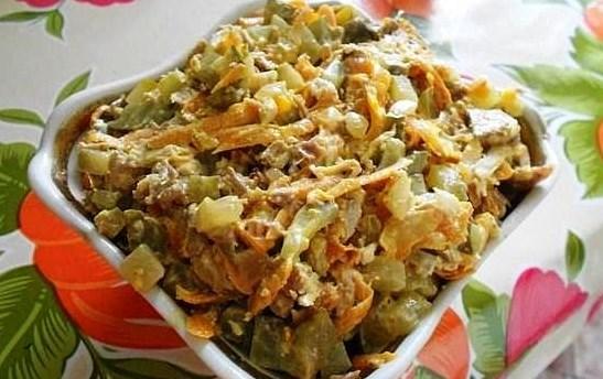 Салат обжорка классический рецепт с фото