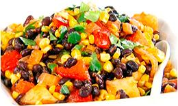 Салат с черной фасолью и другими овощами