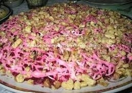 слоеный салат Любовница