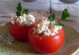 Салат внутри помидоров фото