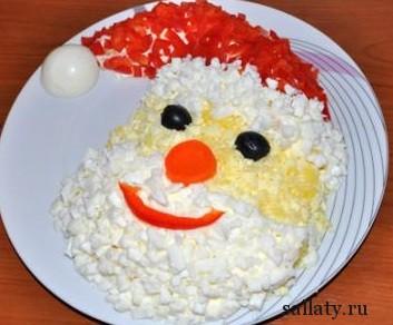 Рецепт салата Дед Мороз