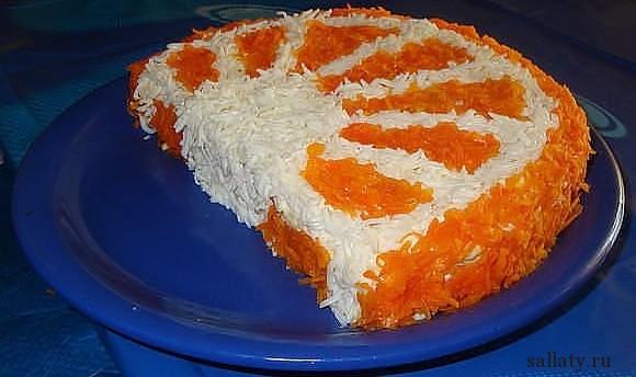 Салат Апельсин с морковью