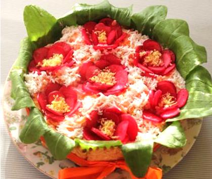 Салат «Цветочный»