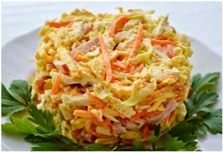 салат курица и морковь помидор